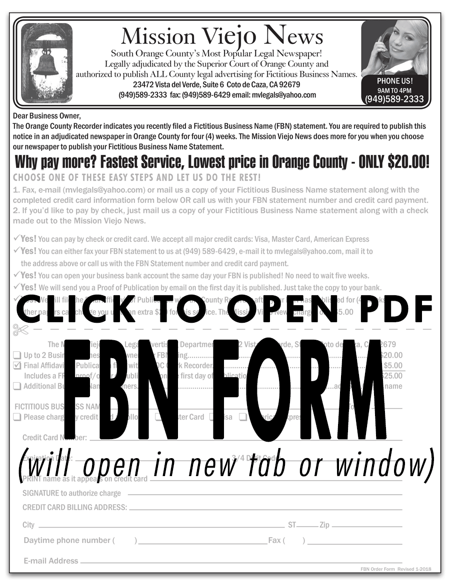 FBN Form